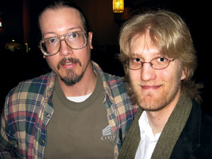 Mark Borchardt (left) and Graham Killeen